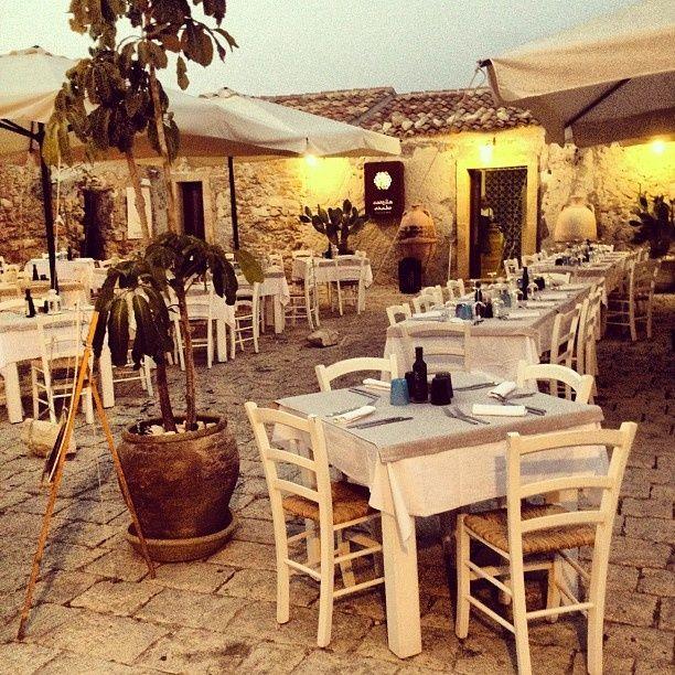 #CortileArabo restaurant in #Marzamemi , #Sicily