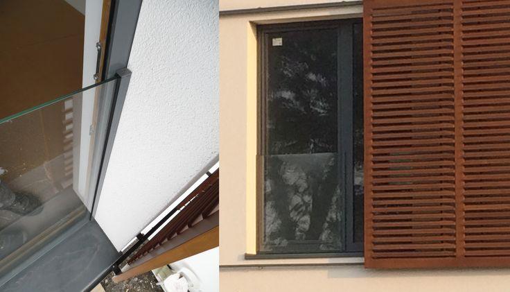 sklenené zábradlie na francúzske okno