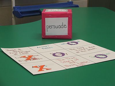 Author's Purpose Game. Could also be adapted to genres, or fiction vs. non-fiction. I like it!