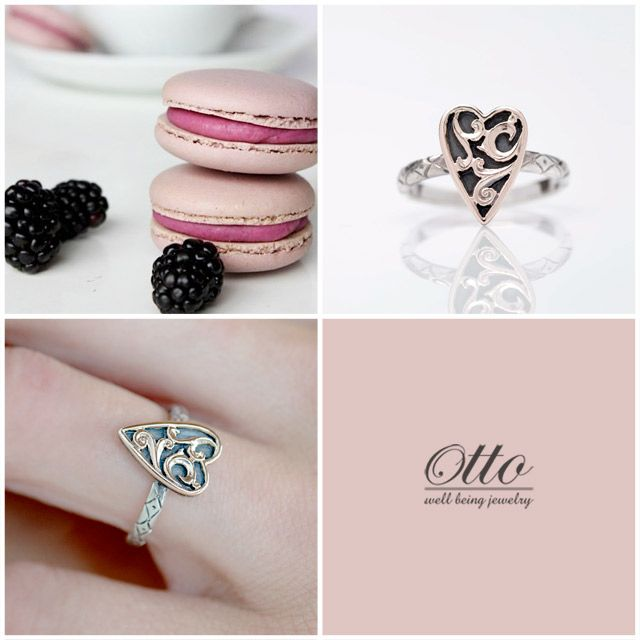 Sweet emotions. Good afternoon. #ottojewels #hearts #moment #ring #love #heart #jewels #jewellery #amour #sweet #food #macarons #pink #otto #cuore #fruits