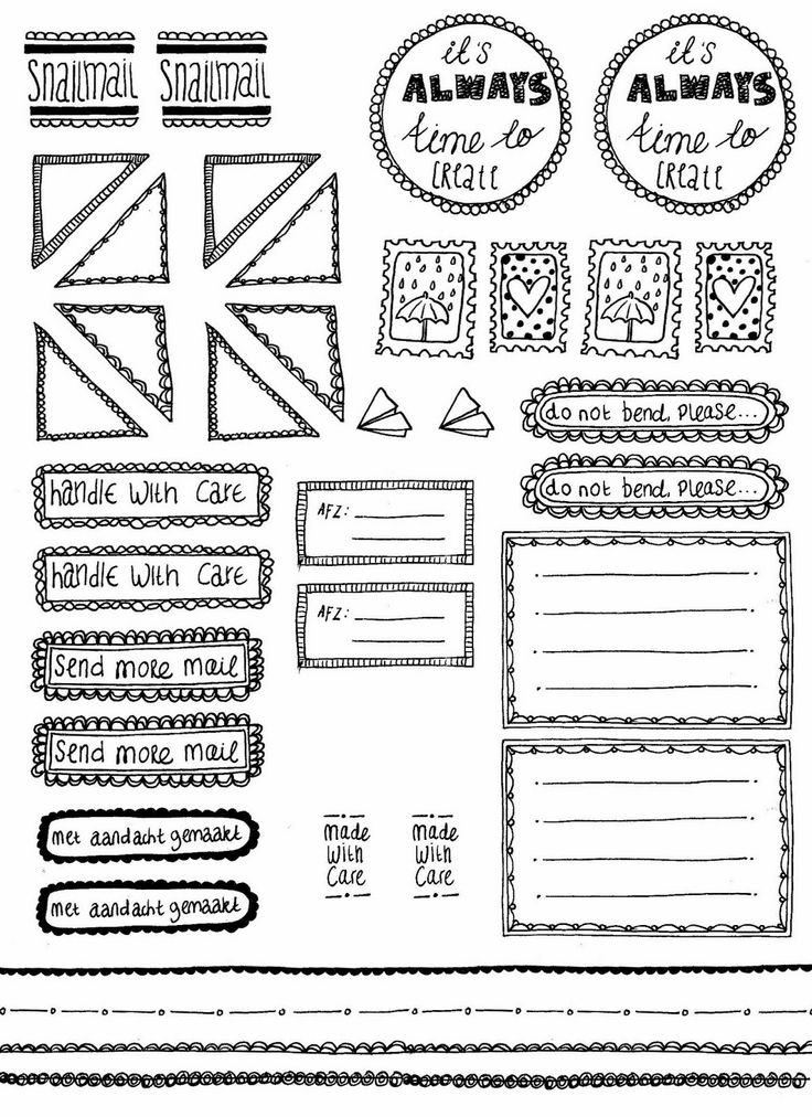 free printable mailing labels and more doodled