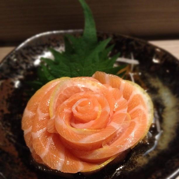#Rosy #Salmon #sushi