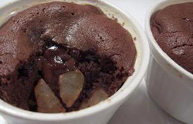 clafoutis chocolat et pommes WW, recette de délicieux petits gâteaux facile et simple à réaliser pour un dessert gourmand ou un goûter.
