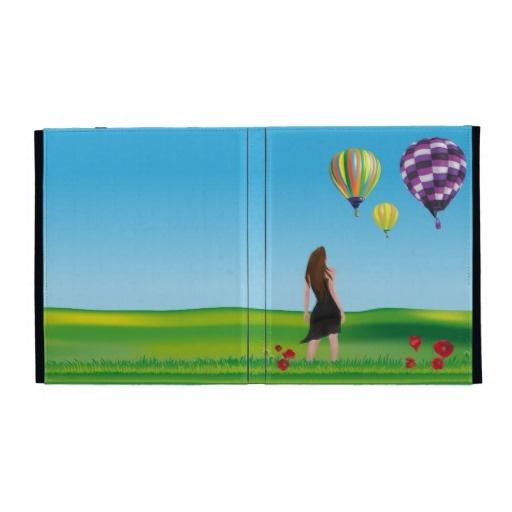Last product on Zazzle! hot-air balloons caseable ipad folio