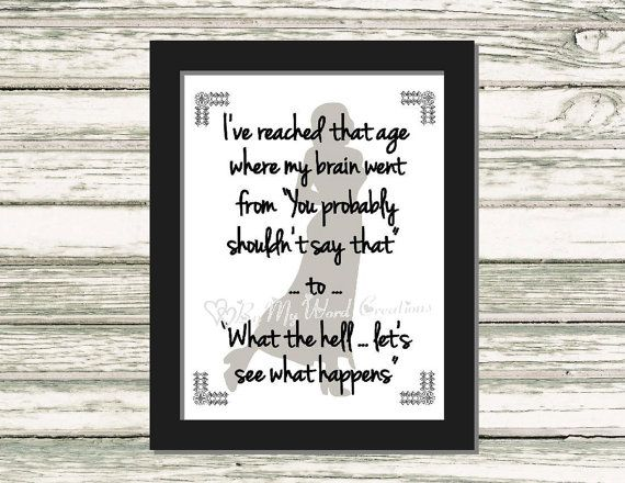 Reached That Age Quote Art Funny Quote Word by ByMyWordCreations