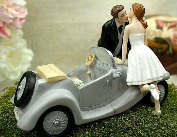 Just married: | 21 Adorably Unusual Wedding Cake Toppers