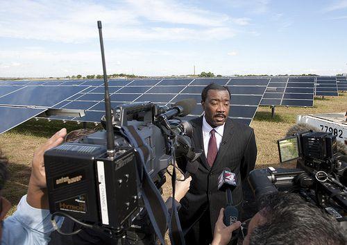 Solar energy plants. http://how-to-build-solar-panels.us/solar-farms.html Blue Wing Solar Farm Dedication