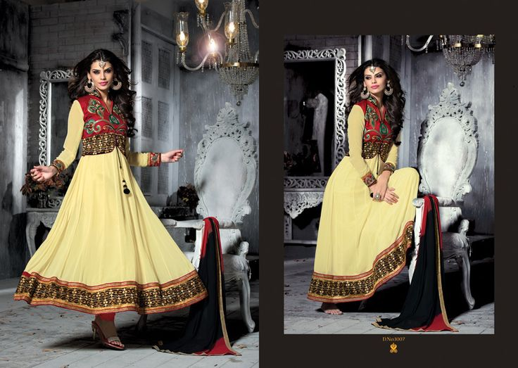 Yellow Pure Georgette Cinderella Fashion Queen.  Pricing Call Us or What's App Us on :- +91 99099 59528 Visit Our Site=> #www.sareemall.in Email Us on:- support@sareemall.in
