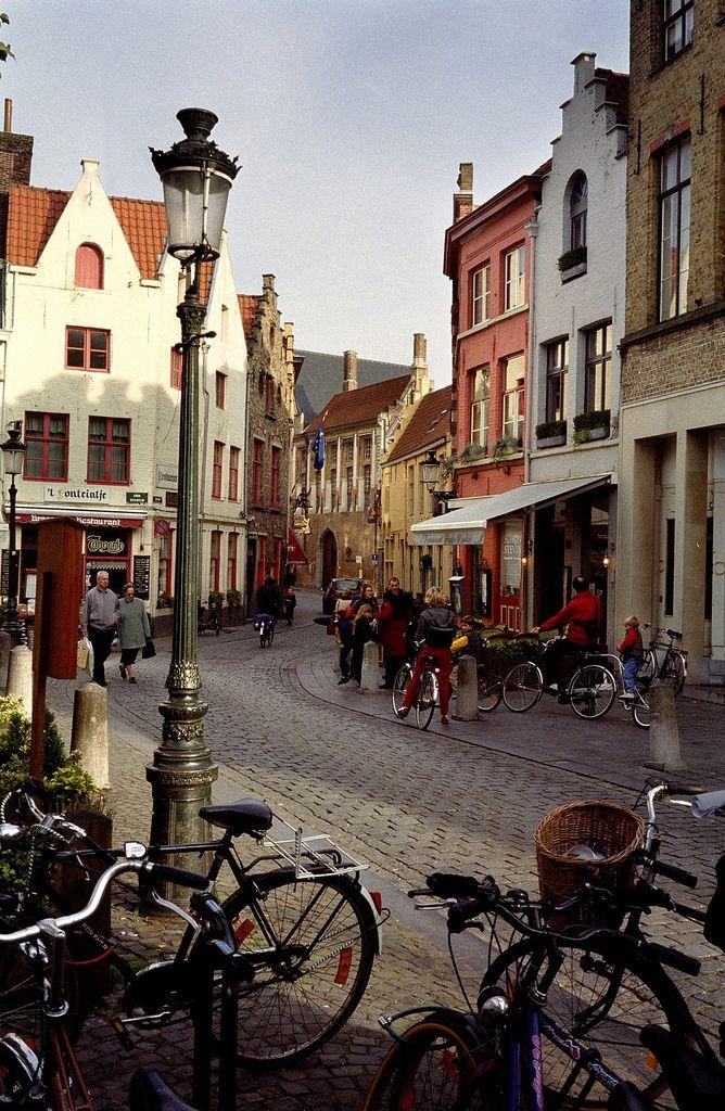 Calles de Brujas, Bélgica .