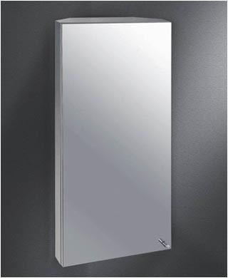 Ketcham CMC 1333 S.S Corner Mount Polished Edge Mirrored Medicine Cabinet  At Bluebath.com