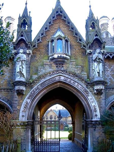 Entrance to Holly Village, Highgate, North London