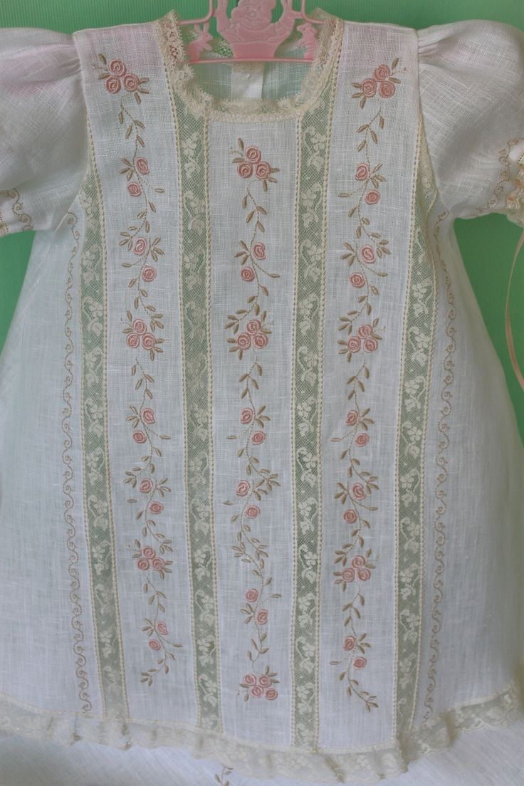 Lace and embroidered insertion