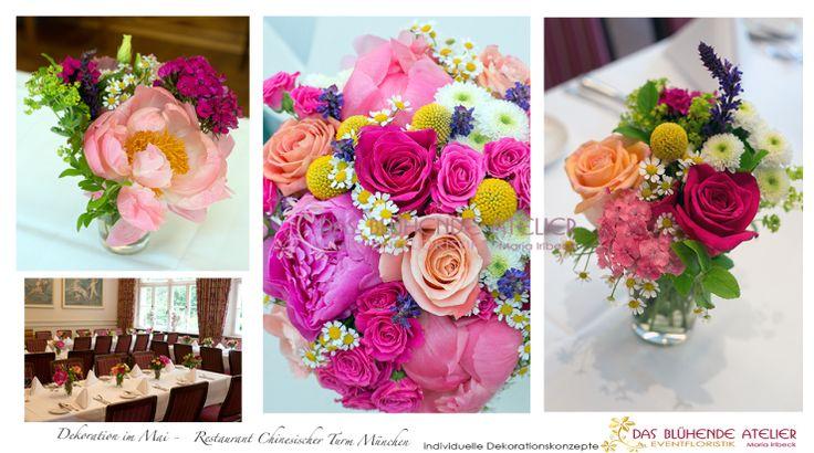 Konzept Mai Hochzeit - Restaurant Chinresischer Turm pink coralle wei0 lila gelb