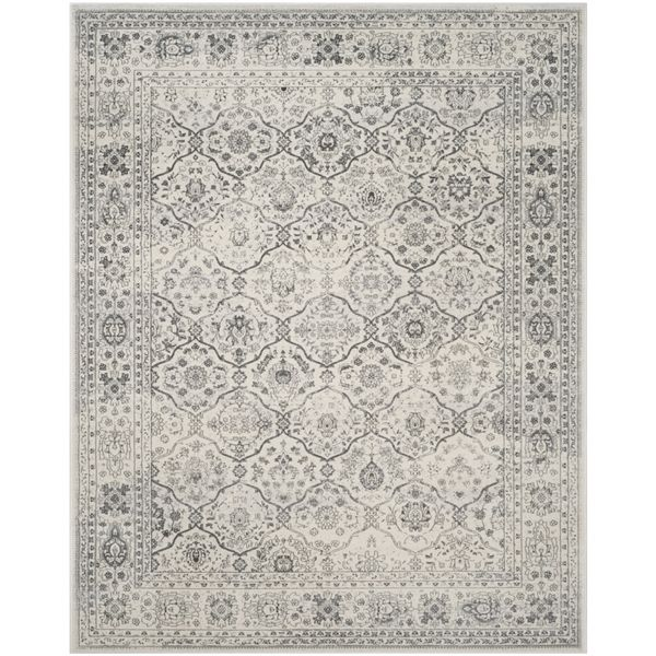 Shop Safavieh  Carnegie Rug Cream/Dark Grey Rectangular Indoor Machine-Made Distressed Area Rug (Common: 8 x 10; Actual: 8-ft W x 10-ft L x 0-ft Dia) at Lowe's Canada. Find our selection of area rugs at the lowest price guaranteed with price match + 10% off.