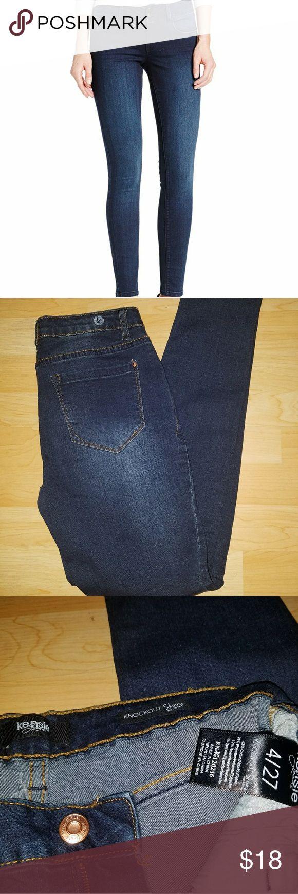 Kensie  Knockout Skinny Jeans 27 Super flattering midrise skinny jean; Size 27/4; great condition Kensie Jeans Skinny