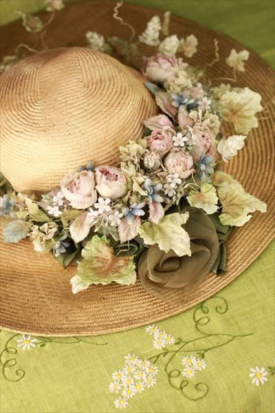 367 best vintage millinery flowers images on pinterest fabric 6 mightylinksfo Gallery