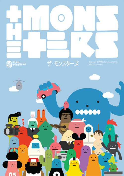 The monsters, poster by Sticky Monster Lab for the Tokyo International Anime…