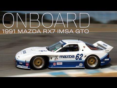 Onboard 1991 Mazda RX7 IMSA GTO Four Rotor At Rolex Monterey Motorsports  Reunion