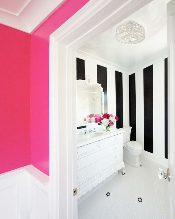 Pink And White Bathroom: 25+ Best Ideas About Pink Bathroom Tiles On Pinterest