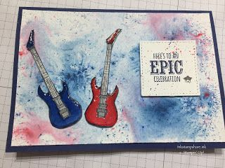Inkstampshare. : Epic Celebrations Guitar Card !