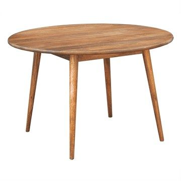 Stuart Solid Mango Wood Timber 120cm Round Dining Table $660