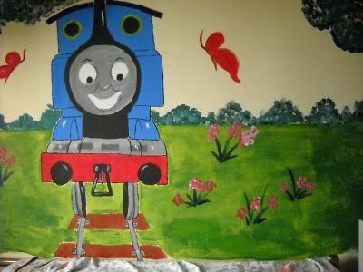 Βάλε χρώμα: Ζωγραφική σε παιδικό δωμάτιο με θέμα τον Τόμας το ...
