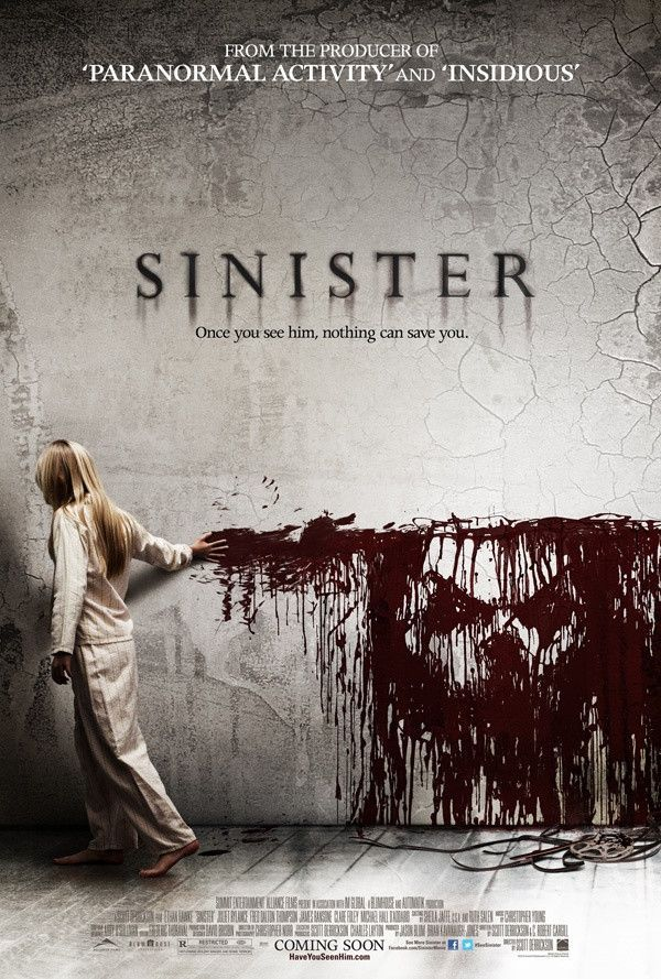Sinister Movie Poster 27X40 Used Rachel Konstantin, Clare Foley, Blake Mizrahi, Vincent D'Onofrio, James Ransone, Ethan Haberfield, Danielle Kotch, Juliet Rylance, Michael Hall D'Addario, Victoria Leigh