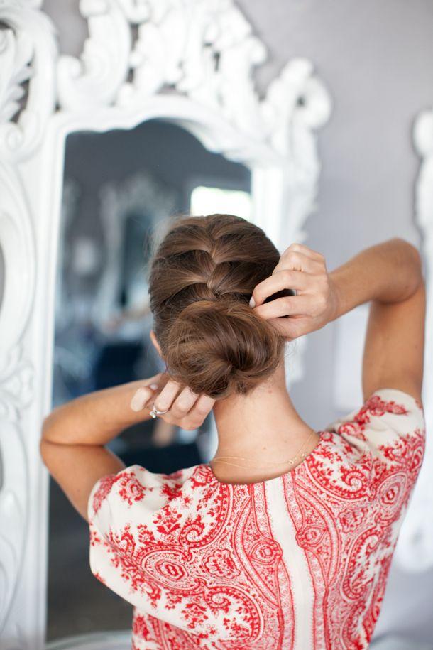 Pretty Simple ::  French Braid Bun