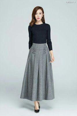 1bef3b5ea Faldas Largas de Vestir Elegantes | Ladies clothes | Faldas, Faldas ...