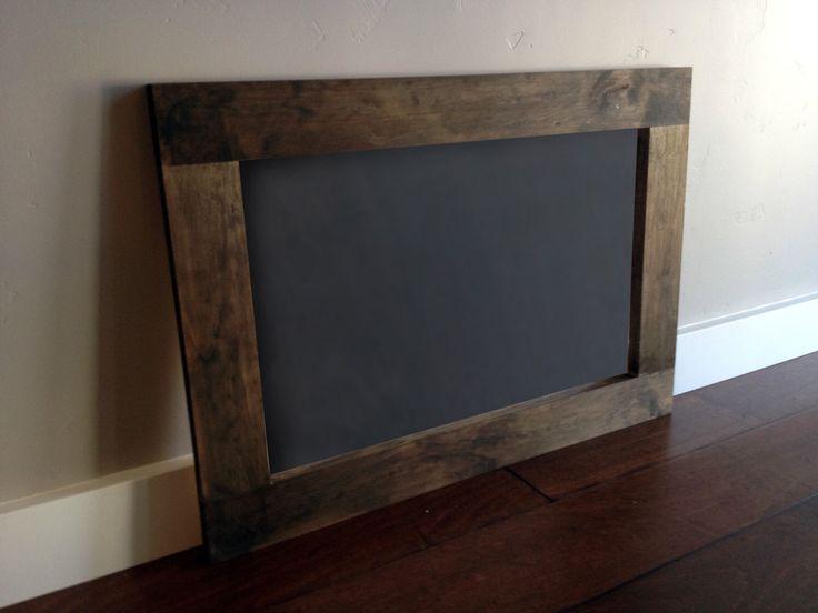 18x24 Shabby Chic Rustic Wood Framed Chalkboard, Large Wood Framed Chalkboard, Large Rustic Wood Framed Chalkboard by ModernRusticBoutique on Etsy https://www.etsy.com/listing/201426263/18x24-shabby-chic-rustic-wood-framed