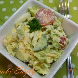 Sałatka z małosolnych i jajek