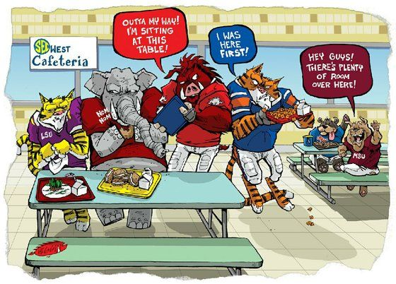 LSU Vs. Alabama Funny Cartoons | WholeHogSports - 2011 Arkansas gameday cartoons