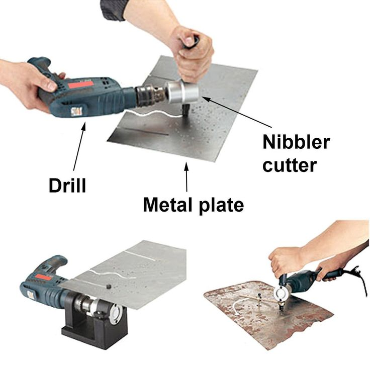 Double Head Sheet Nibbler Metal Cutter