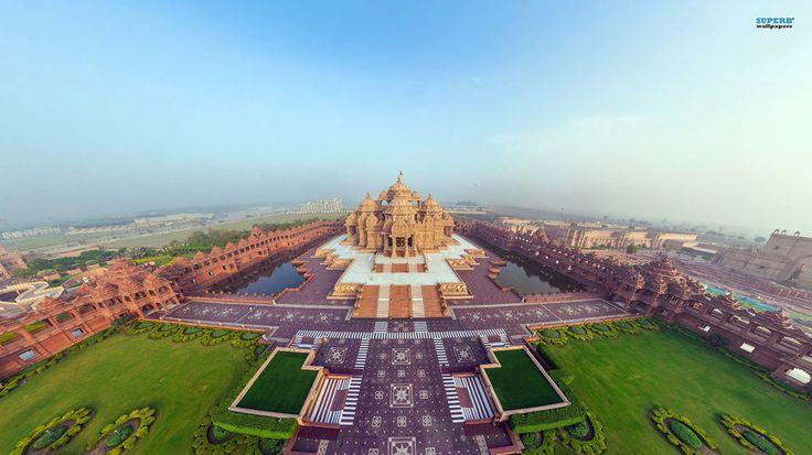 niesamowite akshardham świątynia w delhi Indie... wektor