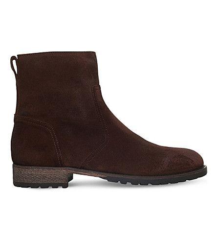 BELSTAFF Attwell Suede Short Boots. #belstaff #shoes #boots