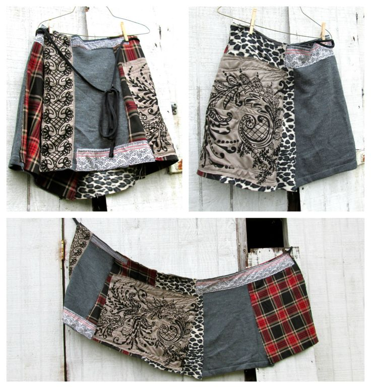 a funky little skirt made from various fabrics. a simple wrap skirt, by CreoleSha