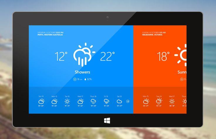 Weather app for windows 8 by Corey Ginnivan