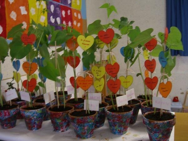 planter une fleur pour la fete des meres