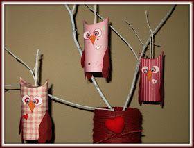 Valentine's Day, Paper Crafts, Owls, Toilet Paper Rolls