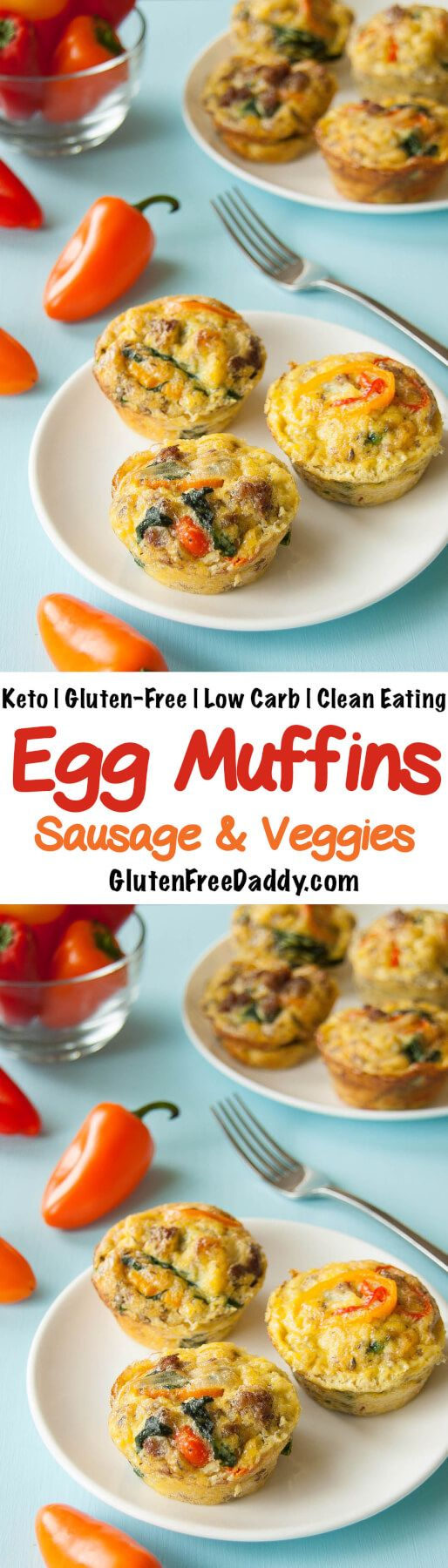 These Keto egg muffins are packed with protein and veggies; they are so easy to make and grab on the go and include everything in one neat little package. {Low Carb, Gluten Free, Clean Eating}