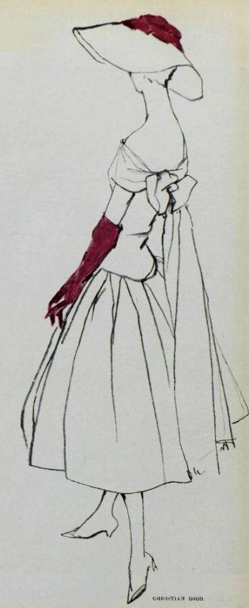 1955 Christian Dior http://www.vintageclothin.com More