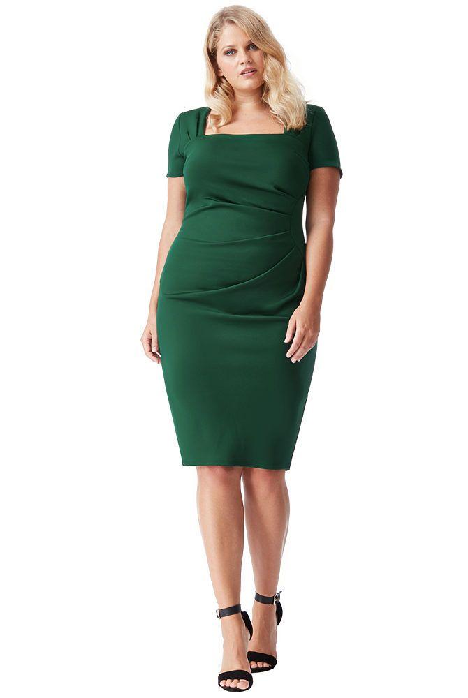Zelené společenské šaty City Goddesse Caroline