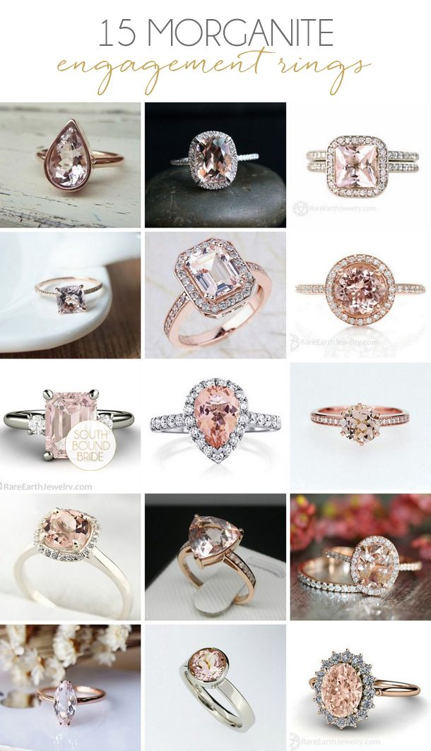 15 Romantic Morganite Engagement Rings | SouthBound Bride | http://www.southboundbride.com/15-romantic-morganite-engagement-rings