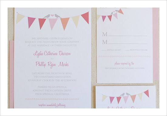 Free Bunting Invitation Set