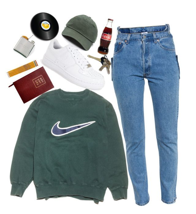 """Untitled #38"" by whoa-its-lexa ❤ liked on Polyvore featuring Vetements, NIKE, Avon, Sloane Stationery and Joseph Joseph"
