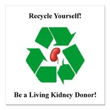 Living Kidney Donor Square Car Magnet for