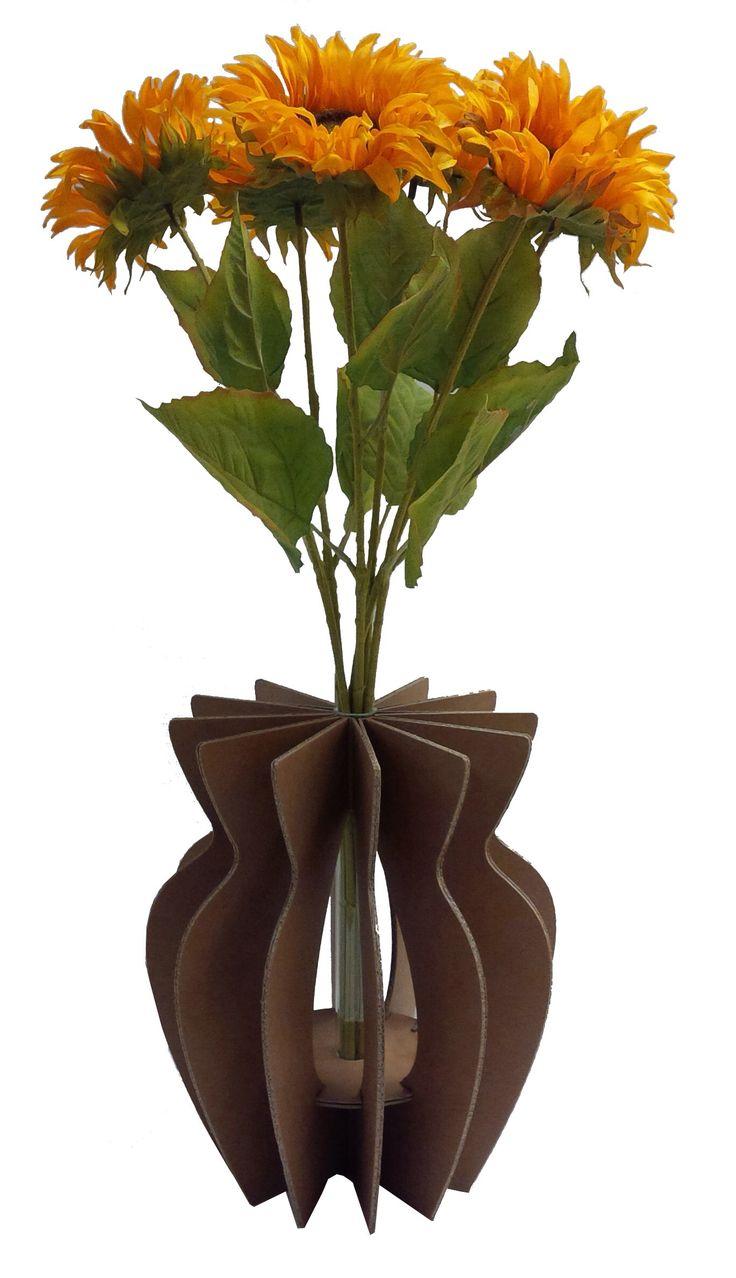 Vas ko VasKo...Eco vaso in cartone rinforzato AVANA  Confezione regalo completa di provetta in vetro ed istruzioni di montaggio. www.maketank.it