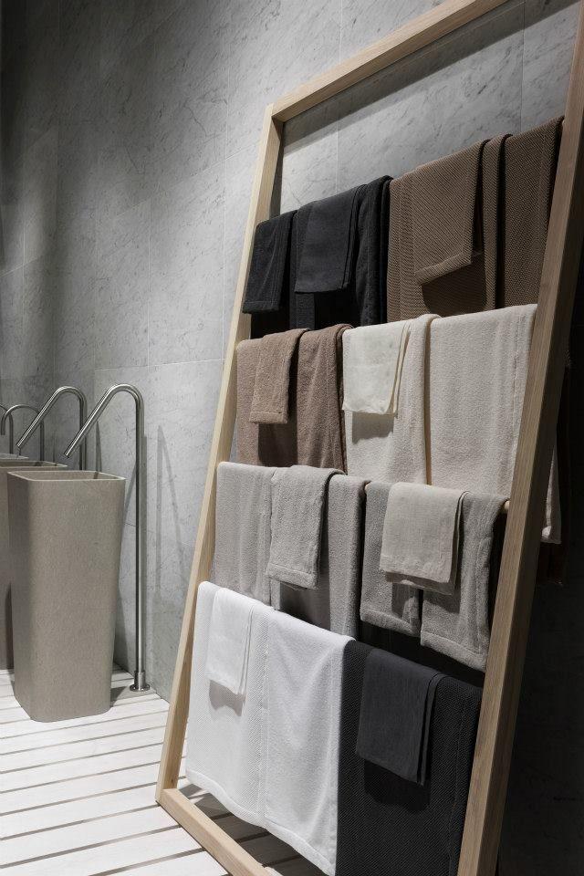 NEUTRA Flagship Store in milan - water_wellness_stone. #bathroom #spa #design #towels