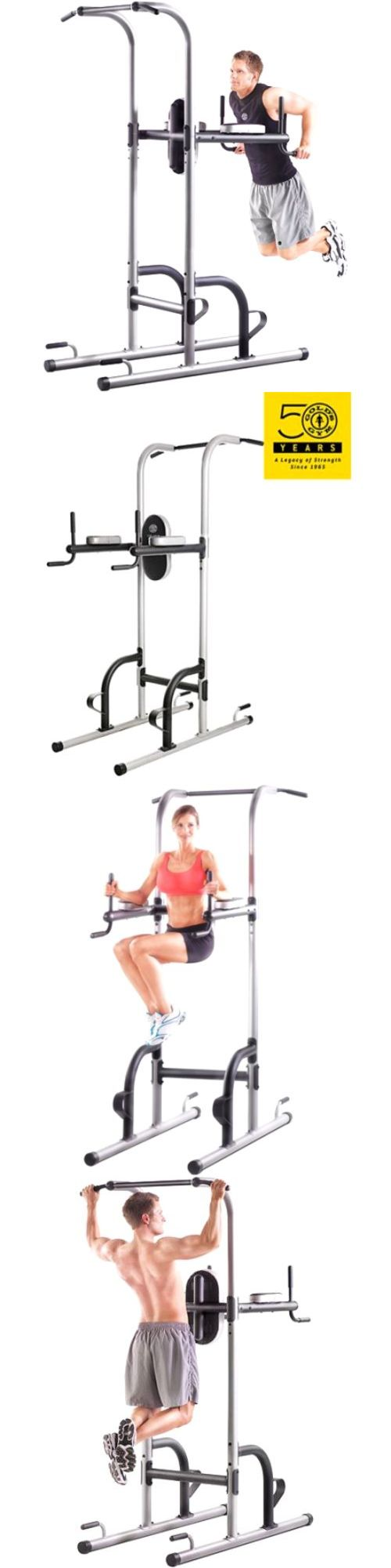 Home Gyms 158923: Power Tower Golds Gym Pull Push Chin Up Bar Exercise Dip Station Home Fitness BUY IT NOW ONLY: $127.48