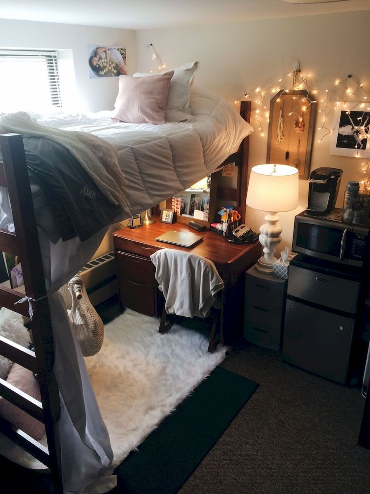 Adorable 95 Genius Dorm Room Decorating Ideas on A Budget https://besideroom.co/95-genius-dorm-room-decorating-ideas-budget/